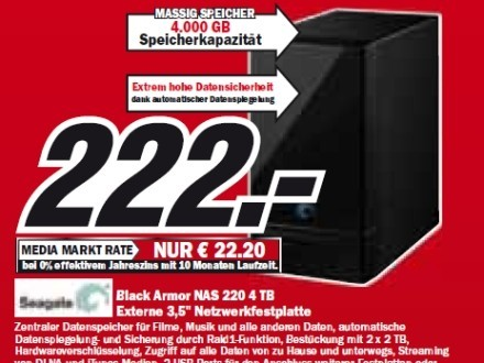 Seagate Black Armor NAS 4 TB ©Media Markt