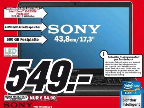 Sony Vaio VPCEJ2D1E/B ©Media Markt