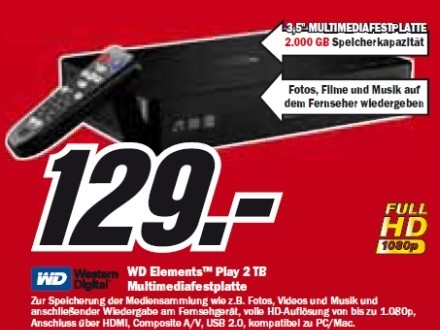 Western Digital WD Element Play 2 TB © Media Markt