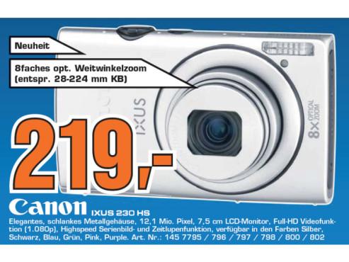Canon Ixus 230 HS ©Saturn