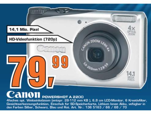 Canon Powershot A 2200 ©Saturn