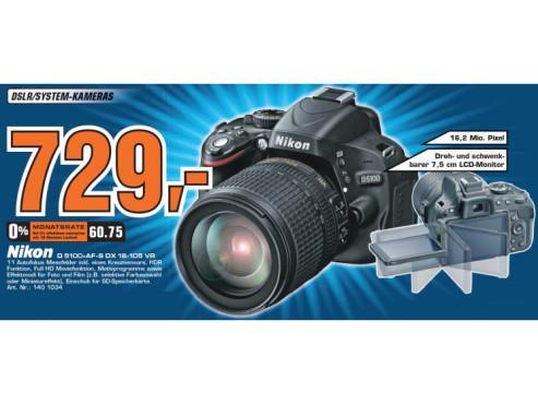 Nikon D 5100+AF-S DX 18-105 VR ©Saturn