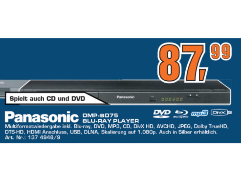 Panasonic DMP-BD75 © Saturn