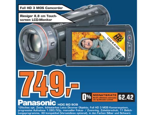 Panasonic HDC SD 909 ©Saturn