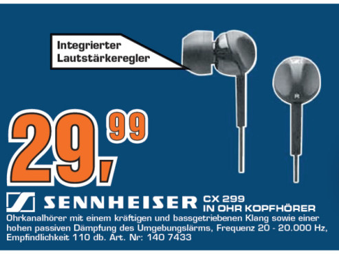 Sennheiser CX 299 © Saturn