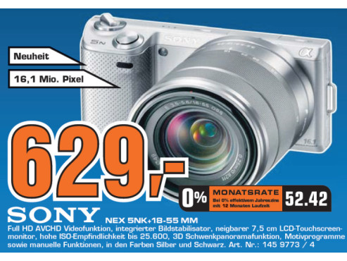 Sony NEX 5NK+18-55 MM ©Saturn