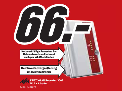 AVM Fritz WLAN Repeater 300E © Media Markt