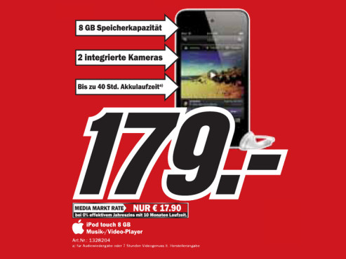 Apple iPod touch 8 GB © Media Markt
