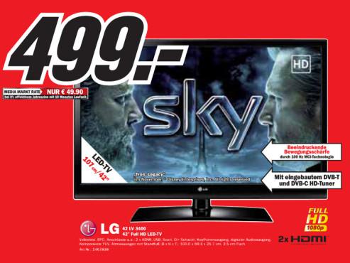 LG 42 LV 3400 ©Media Markt