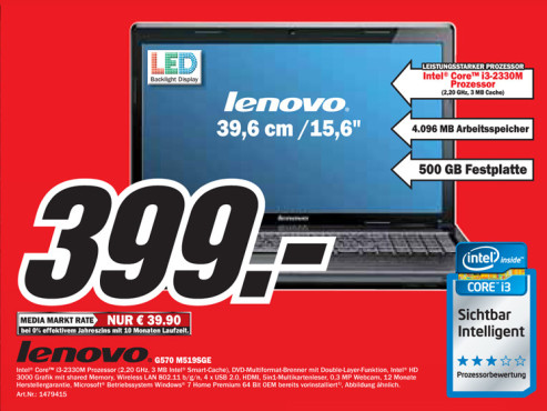 Lenovo G570 M519SGE ©Media Markt