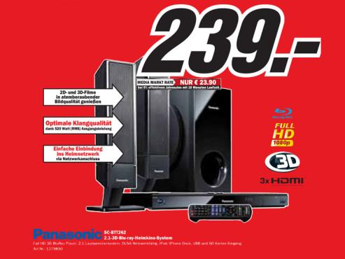 Panasonic SC-BTT262 ©Media Markt
