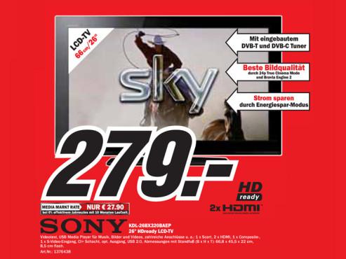 Sony KDL-26BX320BAEP ©Media Markt