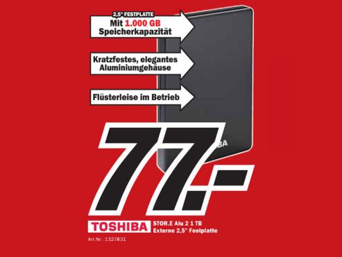 Toshiba Store Alu 2 1 TB ©Media Markt