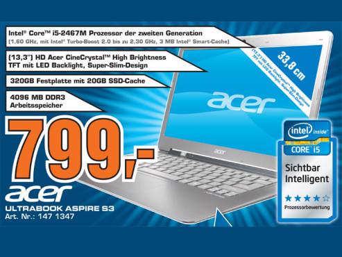Acer Aspire S3 ©Saturn