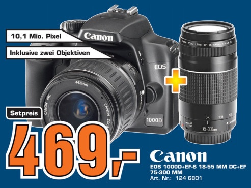 Canon EOS 1000D Kit 18-55 mm + 75-300 mm ©Saturn