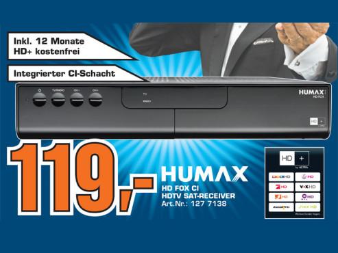 Humax HD Fox HD+ ©Saturn