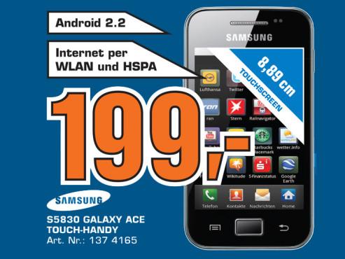 Samsung Galaxy Ace S5830 ©Saturn