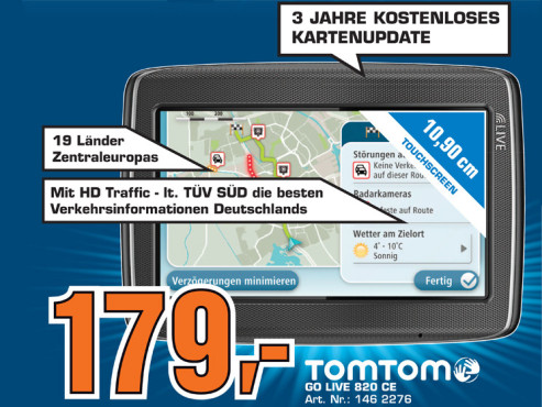 TomTom Go Live 820 Europe © Saturn