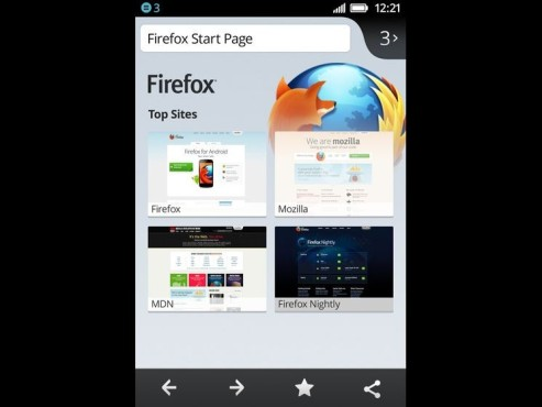 Screenshot Firefox OS © Mozilla