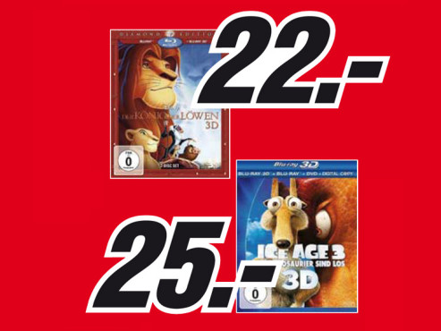 3D-Blu-ray-Filme ©Media Markt