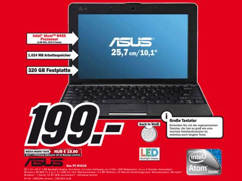 Asus Eee PC R101D ©Media Markt