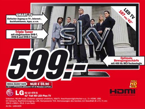 LG 42LV470S ©Media Markt