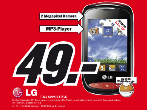 LG T310 Cookie Style © Media Markt