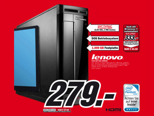 Lenovo Ideacentre H330 © Media Markt
