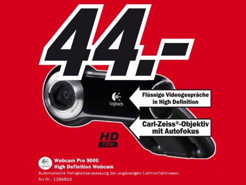 Logitech Webcam Pro 9000 ©Media Markt