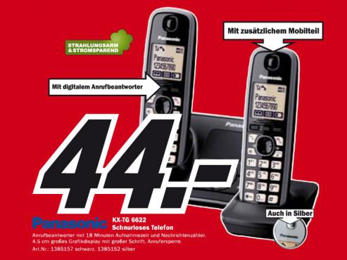 Panasonic KX-TG 6622 ©Media Markt