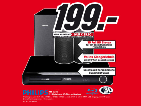 Philips HTS 3231 © Media Markt