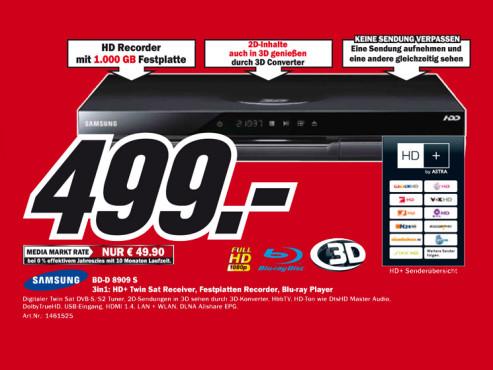 Samsung BD-D8909S ©Media Markt