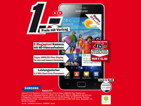 Samsung Galaxy S2 © Media Markt