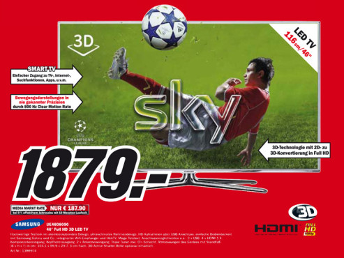 Samsung UE46D8090 ©Media Markt