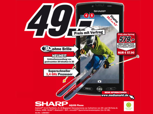 Sharp Aquos Phone © Media Markt