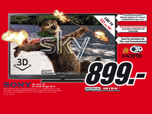 Sony KDL-46EX720 ©Media Markt