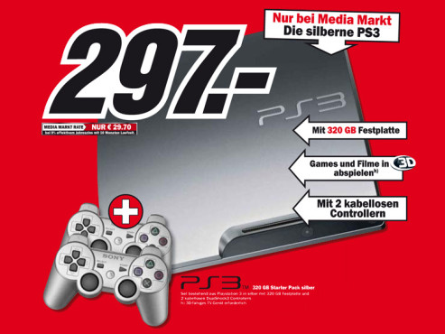 Sony Playstation 3 (PS3) slim 320GB © Media Markt