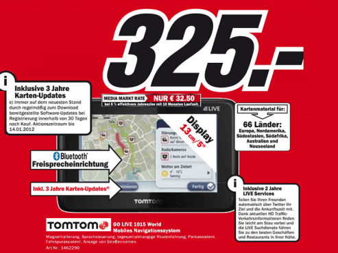 TomTom Go Live 1015 World © Media Markt