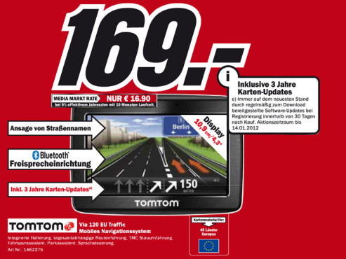 TomTom Via Live 120 Europe © Media Markt