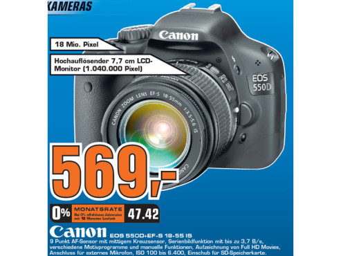 Canon EOS 550D + EF-S 18-55 IS ©Saturn