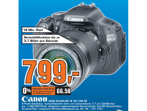 Canon EOS 600D + EF-S 18-135 IS ©Saturn