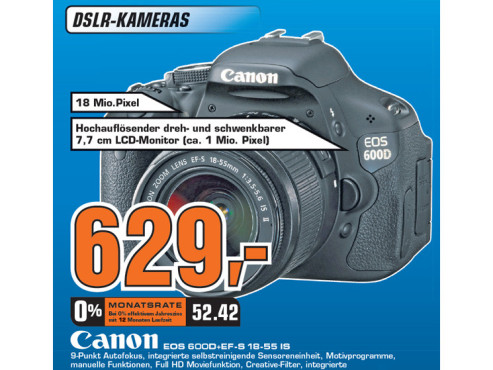 Canon EOS 600D + EF-S 18-55 IS ©Saturn