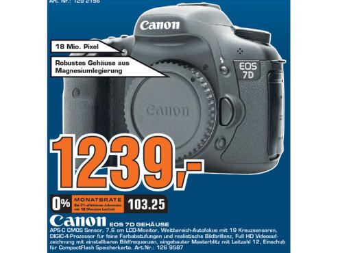 Canon EOS 7D (ohne Objektiv) ©Saturn