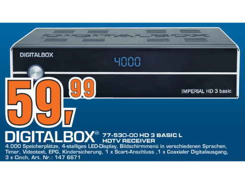Digitalbox Imperial HD3 Basic © Saturn