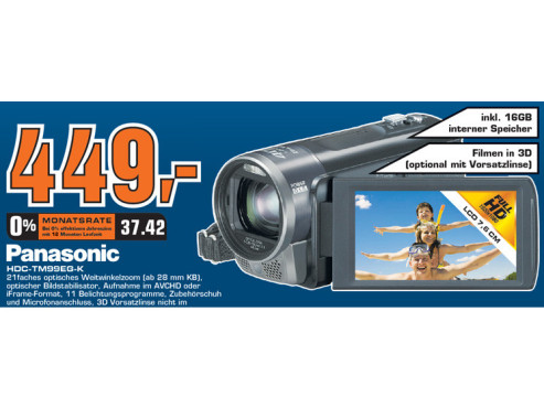 Panasonic HDC-TM99 © Saturn