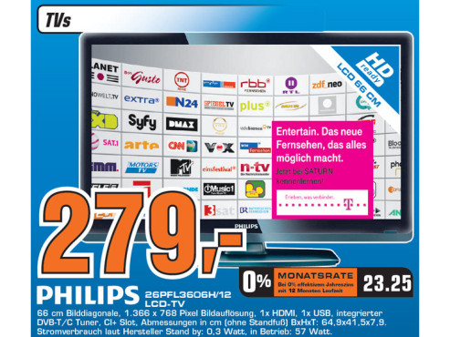 Philips 26PFL3606H/12 © Saturn