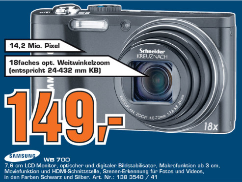 Samsung WB700 ©Saturn