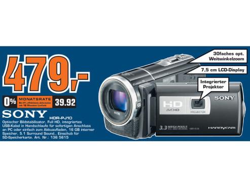 Sony HDR-PJ10 ©Saturn