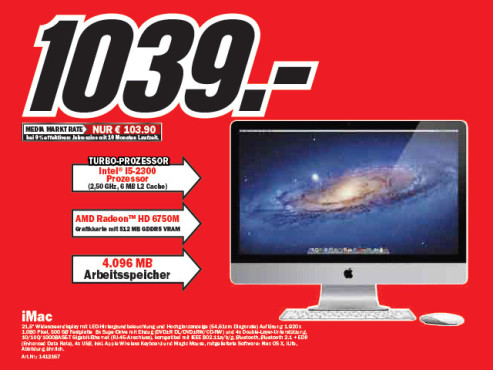 Apple iMac 21 Zoll © Media Markt