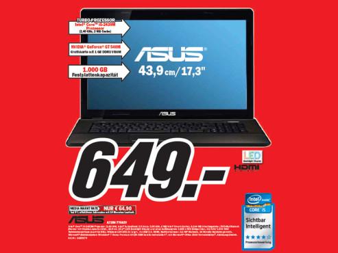 Asus A73SV-TY502V ©Media Markt